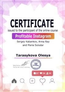 Tarasykova Olesya